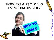 HOW TO APPLY MBBS IN CHINA IN 2017
