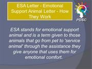ESA Travel & Housing Letters
