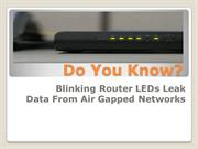 Do You Know Your Router May Leak Data?