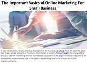 The Important Basics of Online Marketing For Small Business