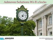 Admoveo Solutions Wi-Fi Clocks