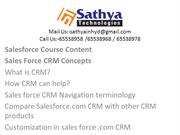 Best Sales force Training in Hyderabad