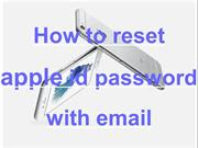 How to reset apple id password with email
