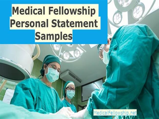 medical fellowship personal statement samples authorstream