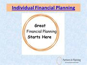 Individual Financial Plans - Melbourne