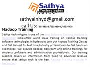 Hadoop training – Best software training institute