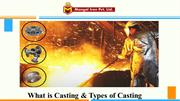 Different types of casting process and its application