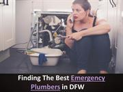Finding The Best Emergency Plumbers In DFW
