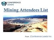 mining attendees list,Mining Conference Attendees List