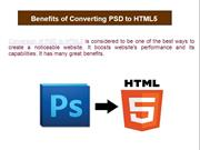 Benefits of Converting PSD to HTML5