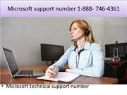 Microsoft support number +1-888- 746-4361