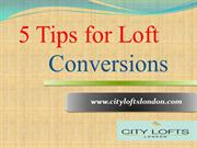 5 tips for loft conversions
