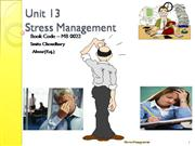 Unit 13 Stress Management