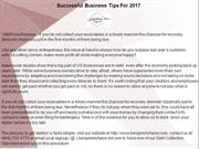 Successful Business Tips For 2017
