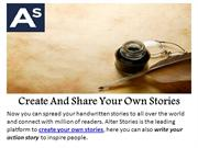 Create And Share Your Own Stories