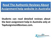 Read The Authentic Reviews About Assignment help website in Australia