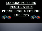 Fire restoration Pittsburgh