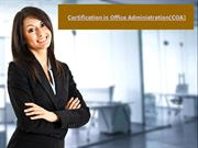 Be a Certified Office Administrator
