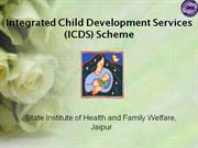 Integrated Child Development Scheme (ICD