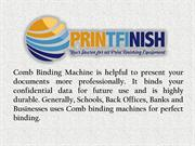 Comb Binding Machine by Printfinish