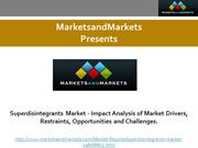 Superdisintegrants Market - Impact Analysis of Market Drivers, Restrai