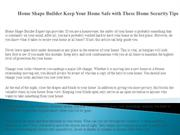 Home Shape Builder Keep Your Home Safe with These Home Security Tips