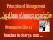Legal forms of business org