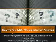 Pass your Microsoft mb6-705 Exam With Dumps | Examtraining