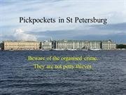 Pickpockets in St Petersburg
