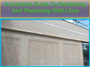 A practical Guide To Rendering And Plastering With Lime