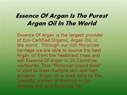 Essence of Argan - Pure Argan Oil for Skin and Hair