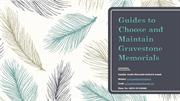 Guides to Choose and Maintain Gravestone Memorials