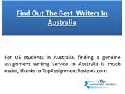 Find Out The Best  Writers In Australia