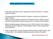 Indian Export of Textiles & Apparel Data
