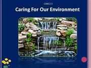 Caring for our Environment