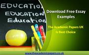 Download Free Essay Examples - The Academic Papers UK