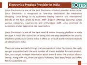 Best Online Electronic Store In India-Lotus Electronics