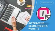 INTERACTIVE ELEMENTS ON A WEBSITE