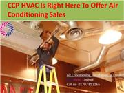 CCP HVAC Is Right Here To Offer Air Conditioning Sales
