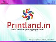Buy Personalized and Customized T Shirts Printing Online in India