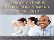 Webroot Antivirus support phone number 1800-445-2810 Technical Support