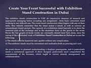 Create Your Event Successful with Exhibition Stand Construction