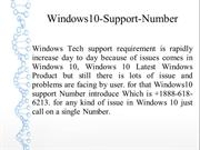 Windows10 Technical Support