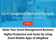 eRegNow - Onlive event registration software, event mobile app