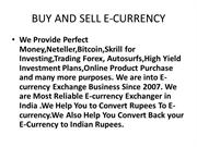 Buy And Sell Perfect Money,Neteller,Skrill,Bitcoin in India