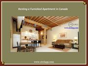Renting a Furnished Apartment in Canada