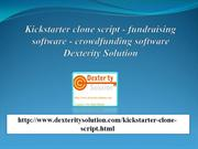Kickstarter clone script - fundraising software (Dexterity Solution)