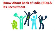 Know About Bank of India (BOI) & Its Recruitment