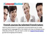 French courses by talented French tutors
