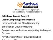 Sales Force software training institute in hyderabad